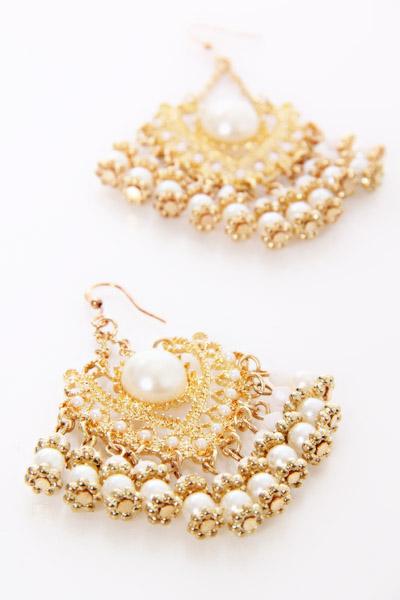 Wedding Bridal Gold Las Earrings Designs 2017 15