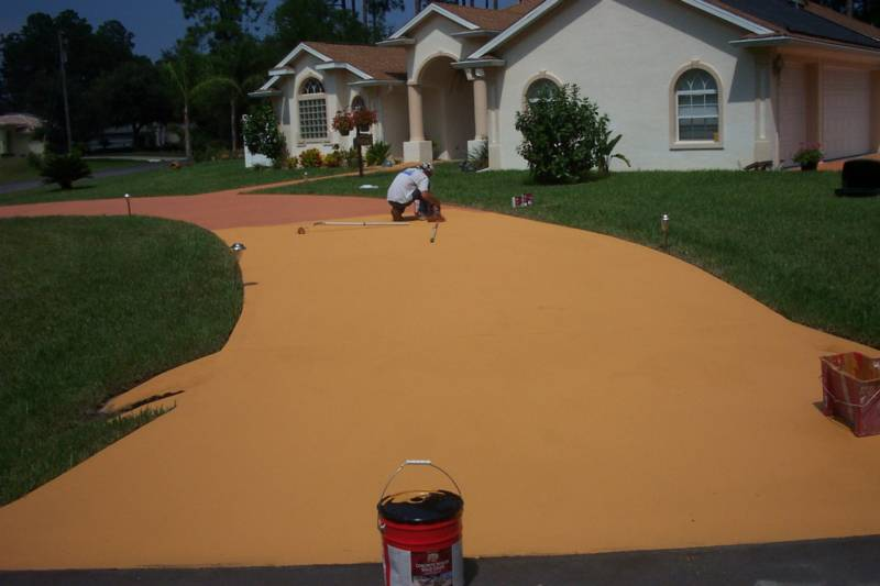 Concrete Coatings / Painting / Designs   Patio Floor Cleaning/ Paint