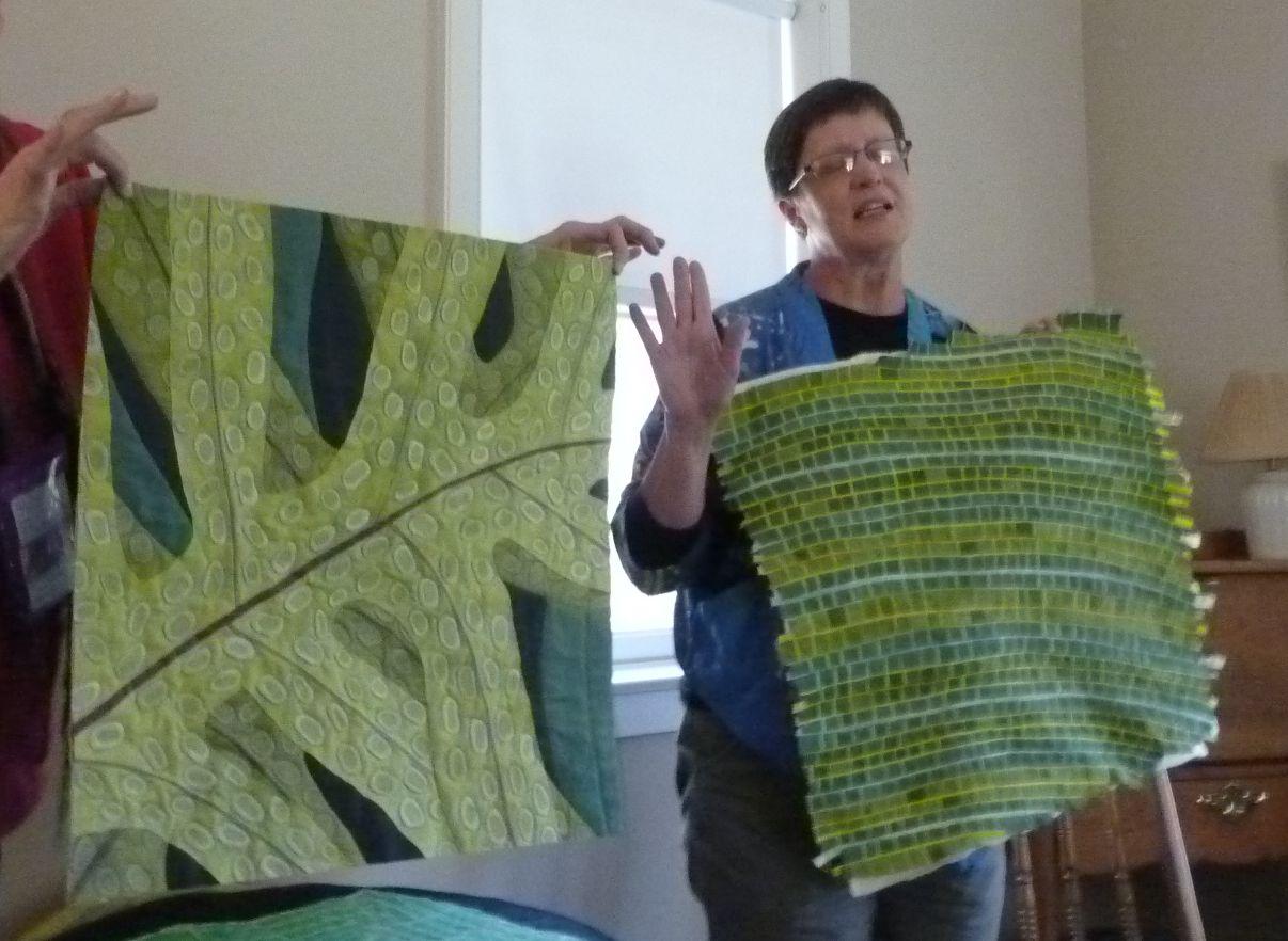 SAQA Regional NH/VT/ME Blog: Lynne Croswell Leaf Quilts : leaf quilts - Adamdwight.com
