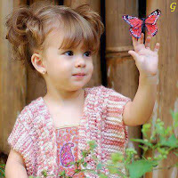 Baby in Pink Dress With Flowers Pictures
