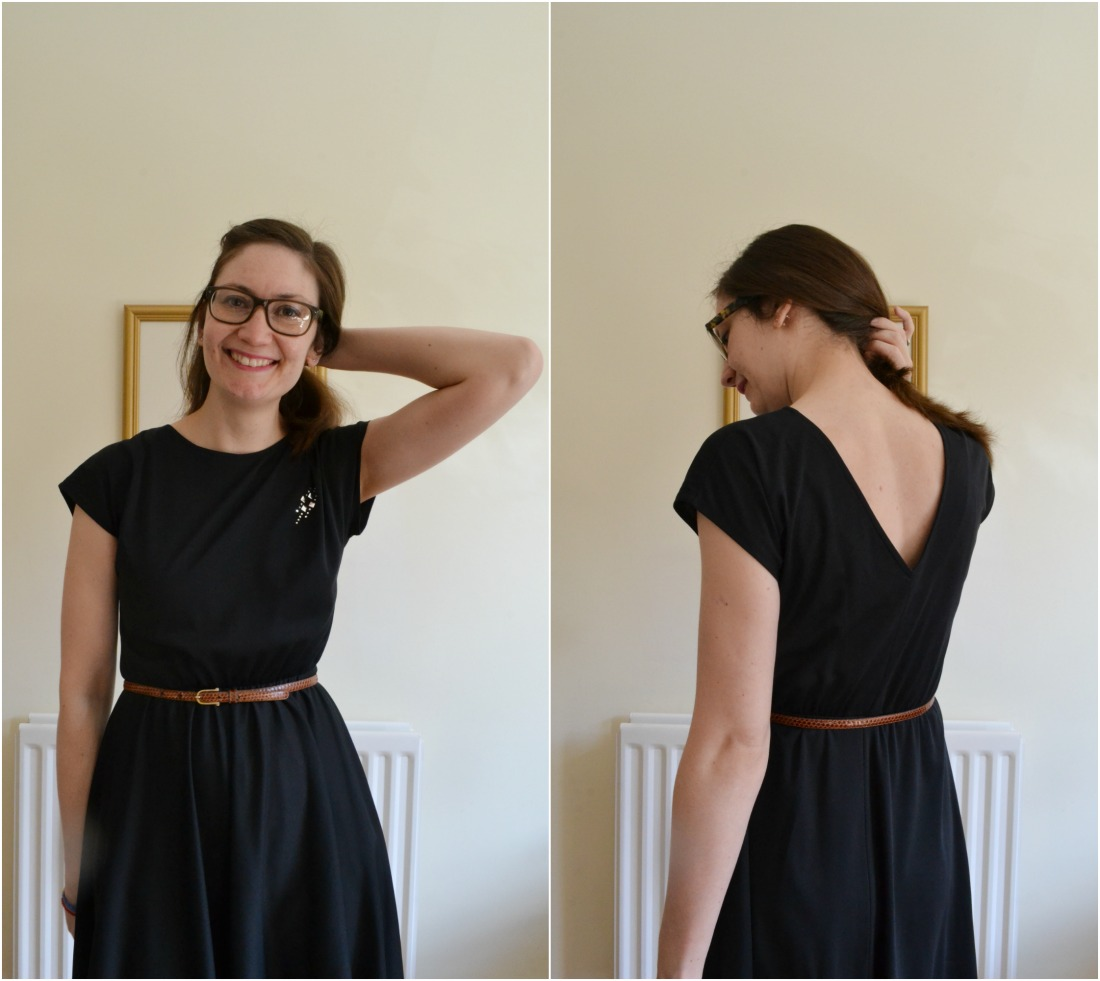 vintage 80s black dress belt