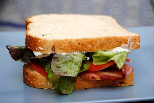Sándwich de Bacon, Lechuga y Tomate