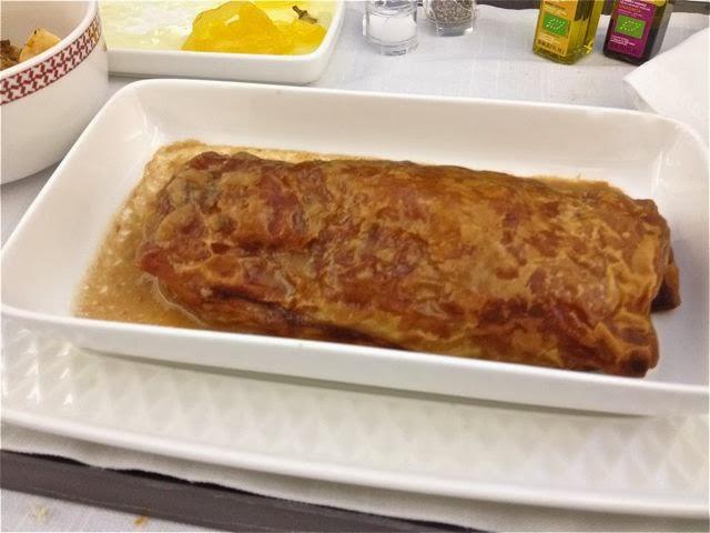 Hojaldre de langostinos y setas de otoño cons salsa cremosa de setas. Blog Esteban Capdevila