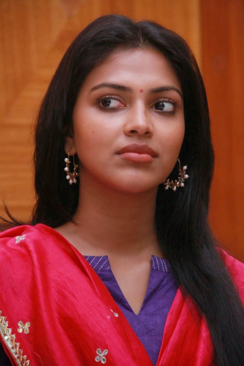 Amala Paul Cute Saree Dress Press Meet at Chennai - SHINER PHOTOS