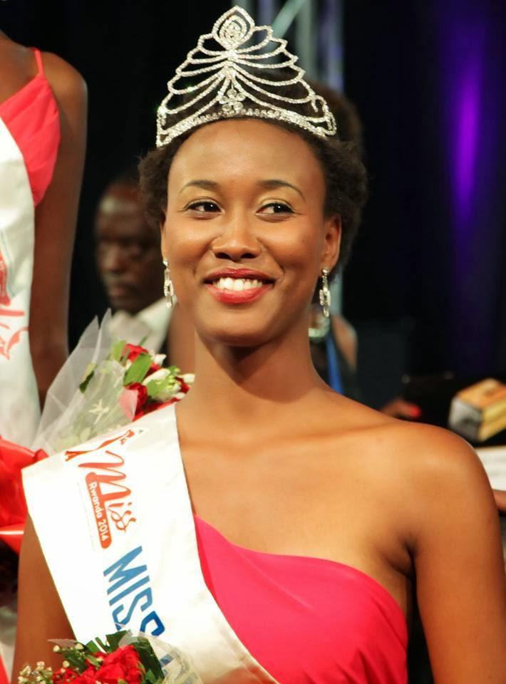 Miss Rwanda 2014 winner Colombe Akiwacu