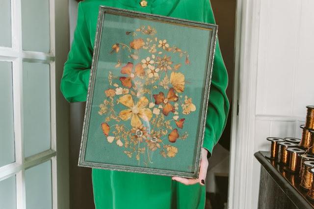 En el estudio londinense de una artista floral