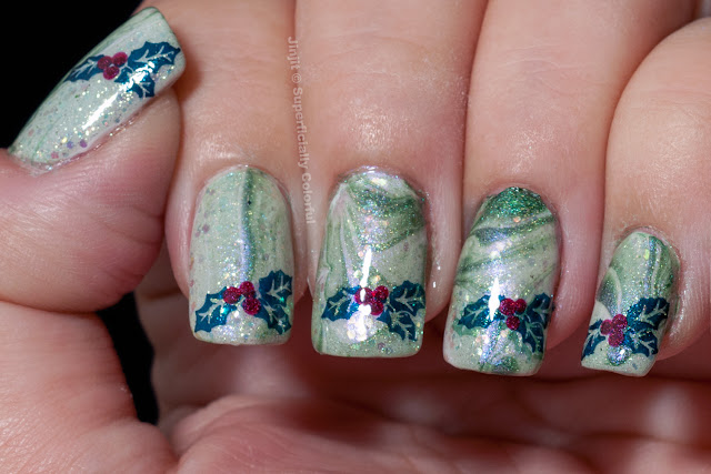 Mistletoe Christmas Water Marble