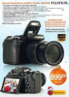 Aparat fotograficzny FujiFilm FinePix XS25EXR z Biedronki ulotka