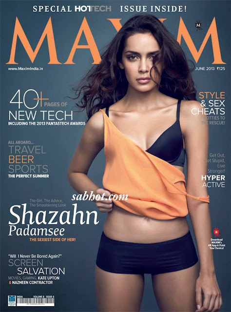 Shazahn Padamsee maxim coverpage hot pictures