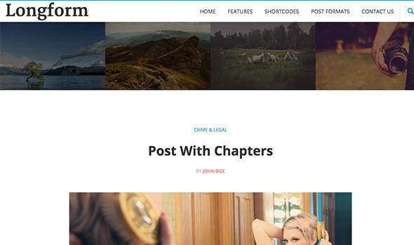 Longform Wordpress theme