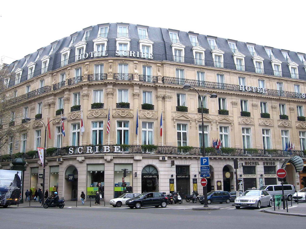 The real deal hotel review le scribe paris for Hotel chaine paris