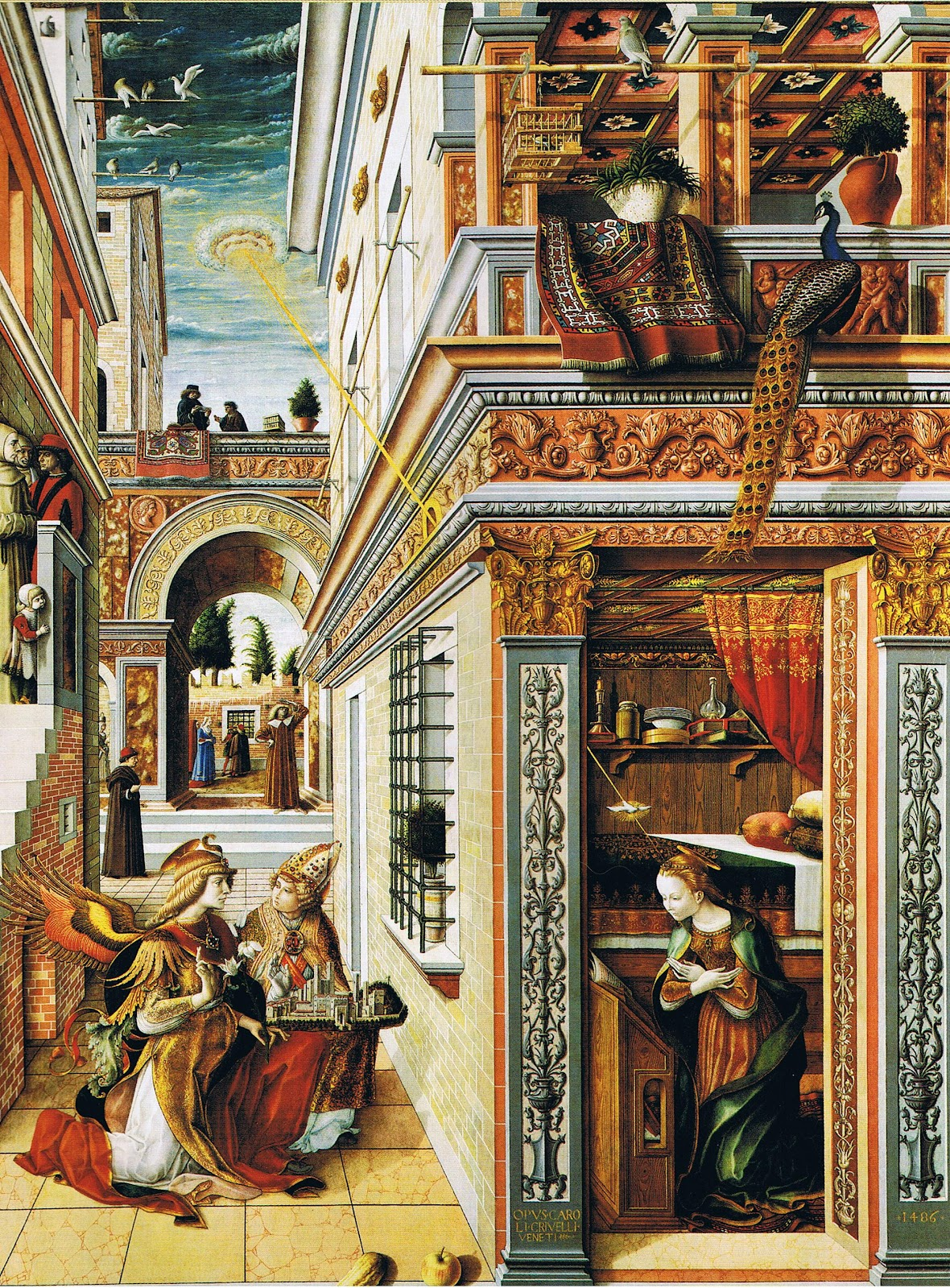 Vamos dar risadas!!!! HAHAHAHAHAHAHAHAHAHA... Carlo_Crivelli_Annunciation_with_St_Emidius_1486_London