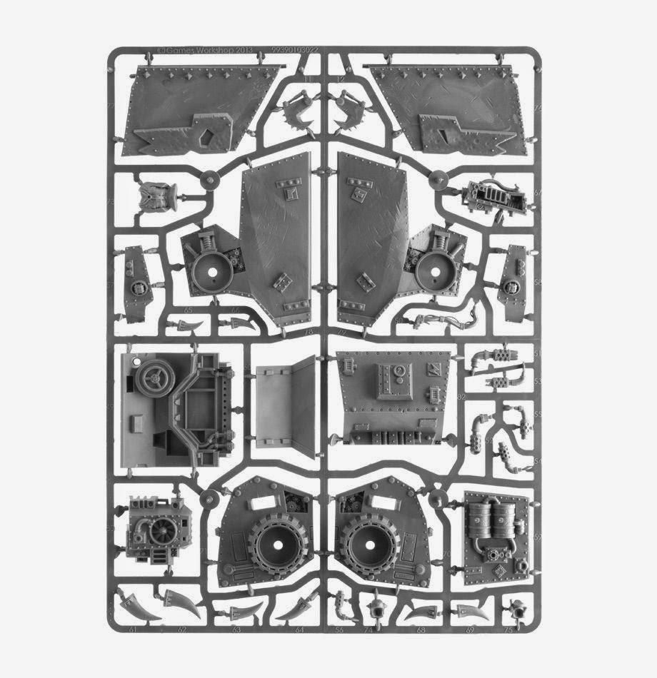 Warhammer 40K Morkanaut and Gorkanaut Sprue