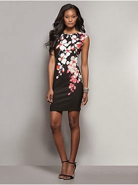 See More Floral Cascade-Print Sheath Dress