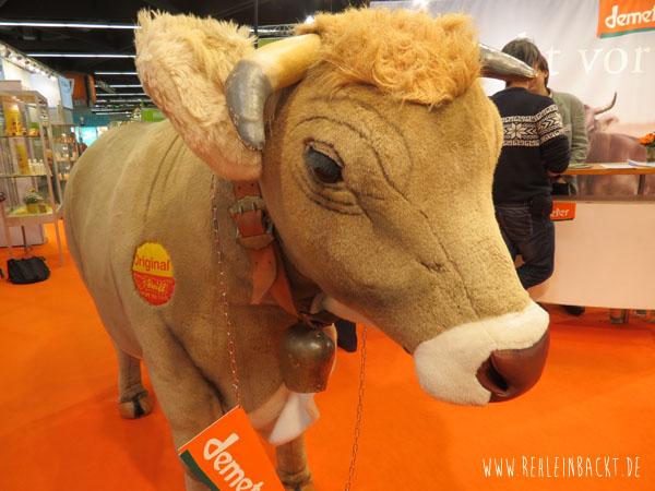 Steiff Kuh auf der BIOFACH Messe Nürnberg 2015 rehlein backt