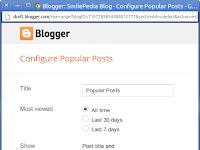 Cara Membuat Widget Popular Post Blog Lebih Menarik