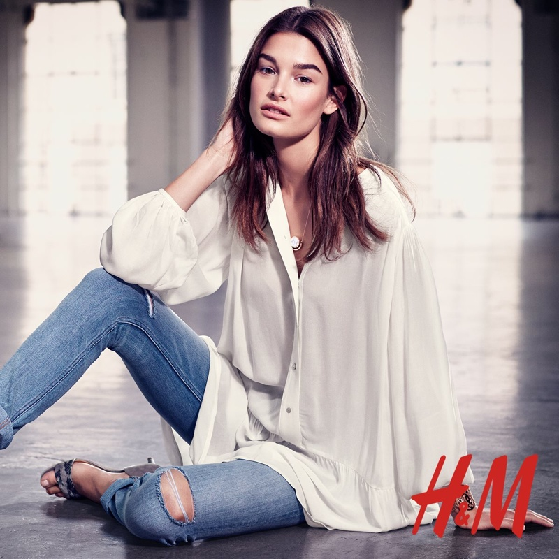 H&M Summer Style Update 2015 featuring Ophelie Guillermand