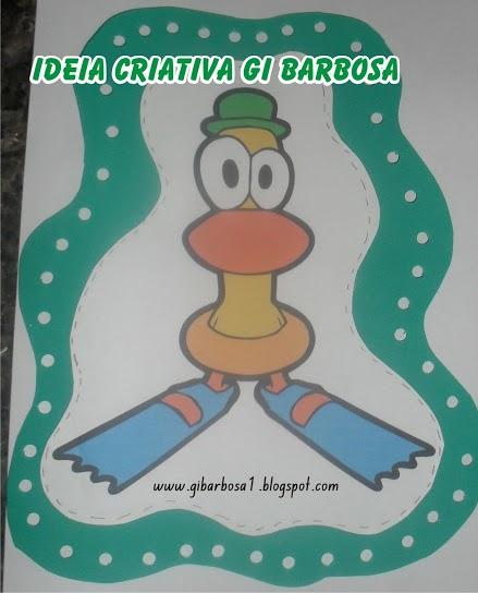 Figura para alinhavo Pato Pocoyo