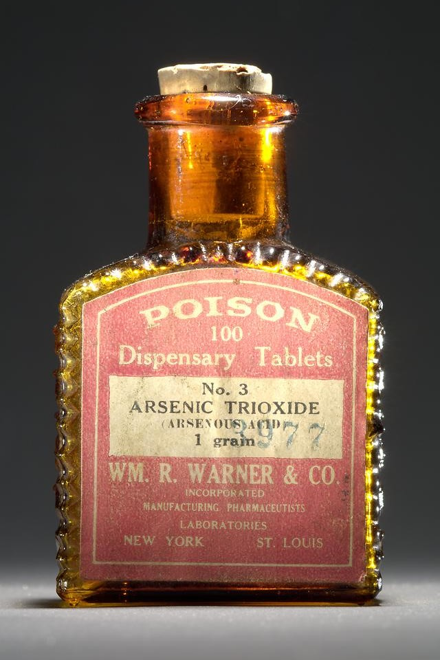 Poison: Arsenic Trioxide . Dispensary-tablets