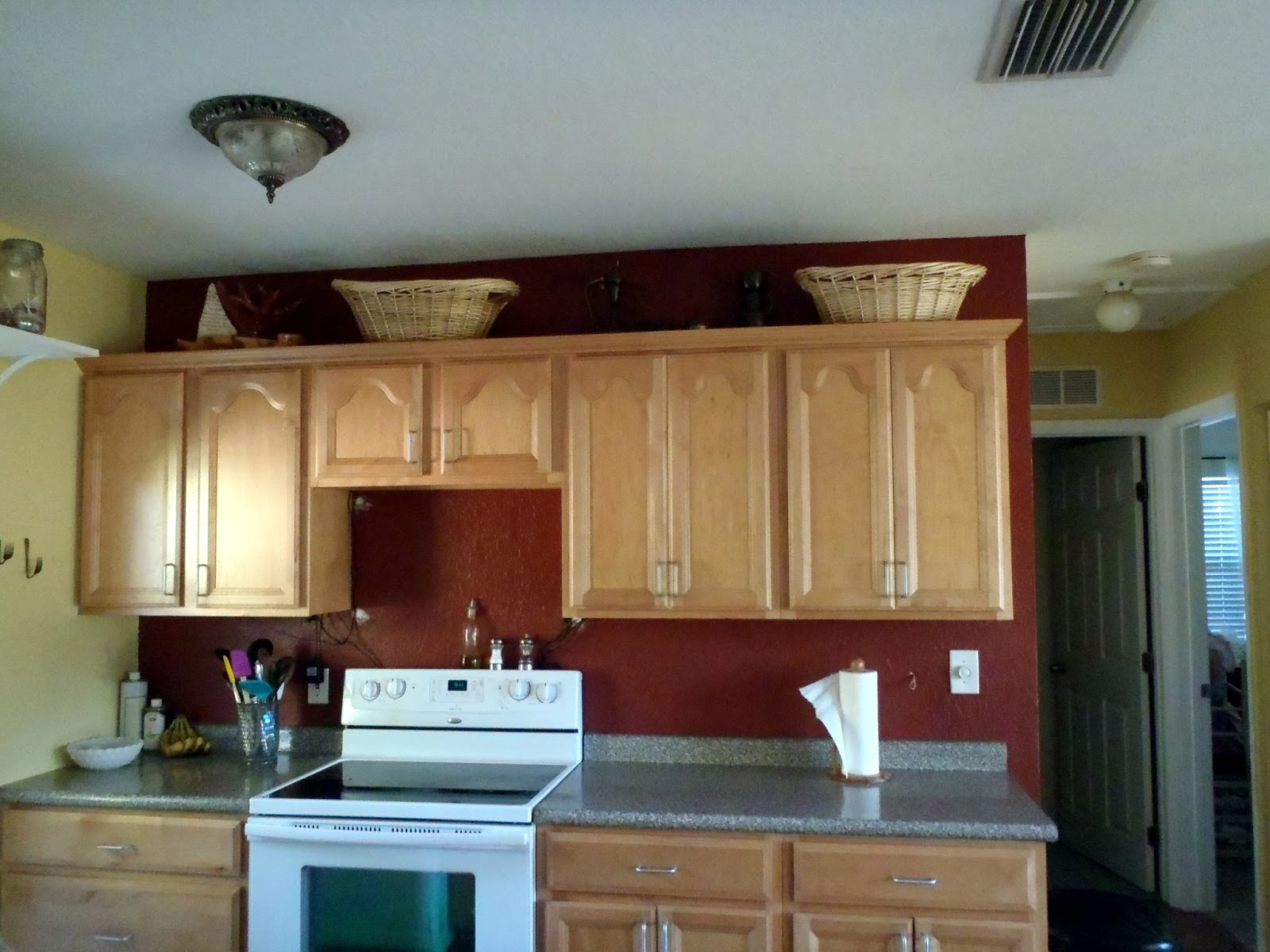 Image Result For Red Cabinets Kitchen