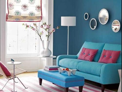 Estilo pequeno inspira o salas coloridas for Salas vintage modernas