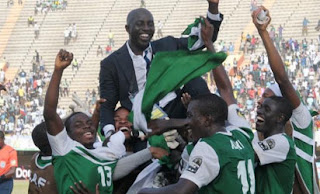 Nigeria U-23 team with coach Siasia