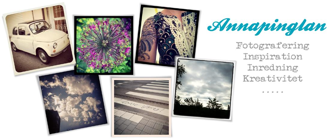 Annapinglans blogg / Inredning / Fotografering