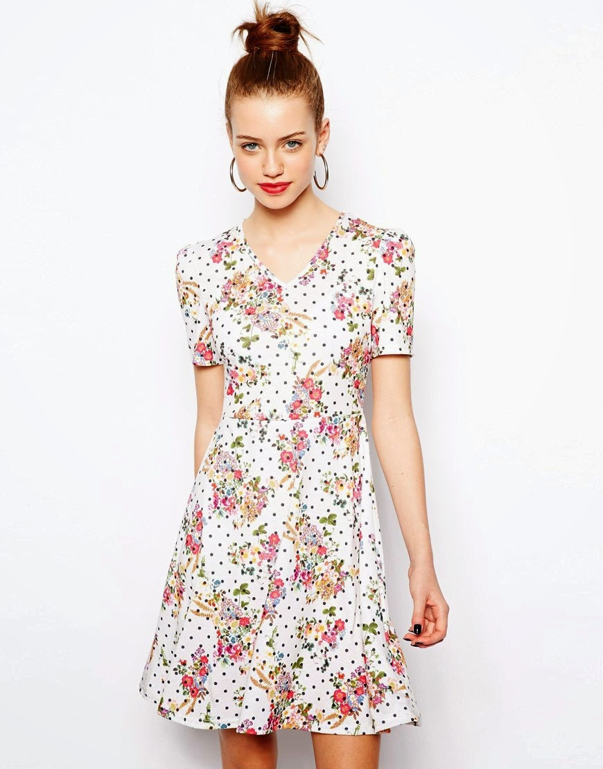 new look spotty dress