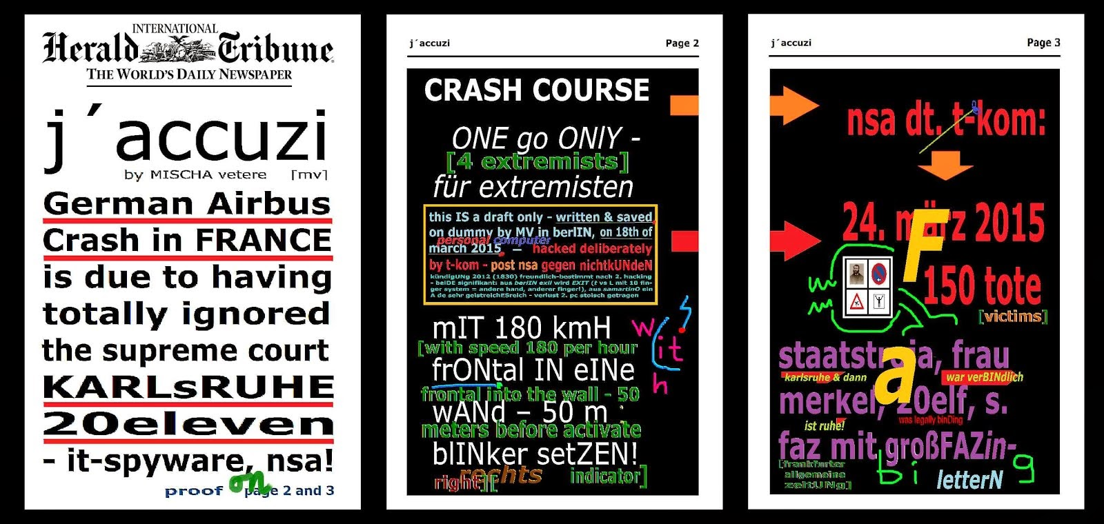 german airbus crash german wings nsa deutsche telekom gegen mischa vetere THE MENTAL REVOLUTION hs