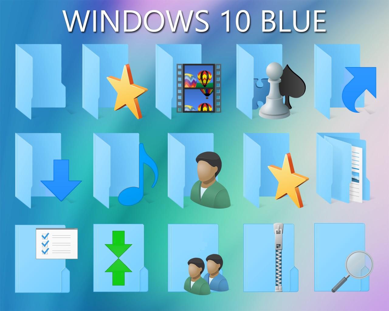 Windows Customs: Windows 10 Blue