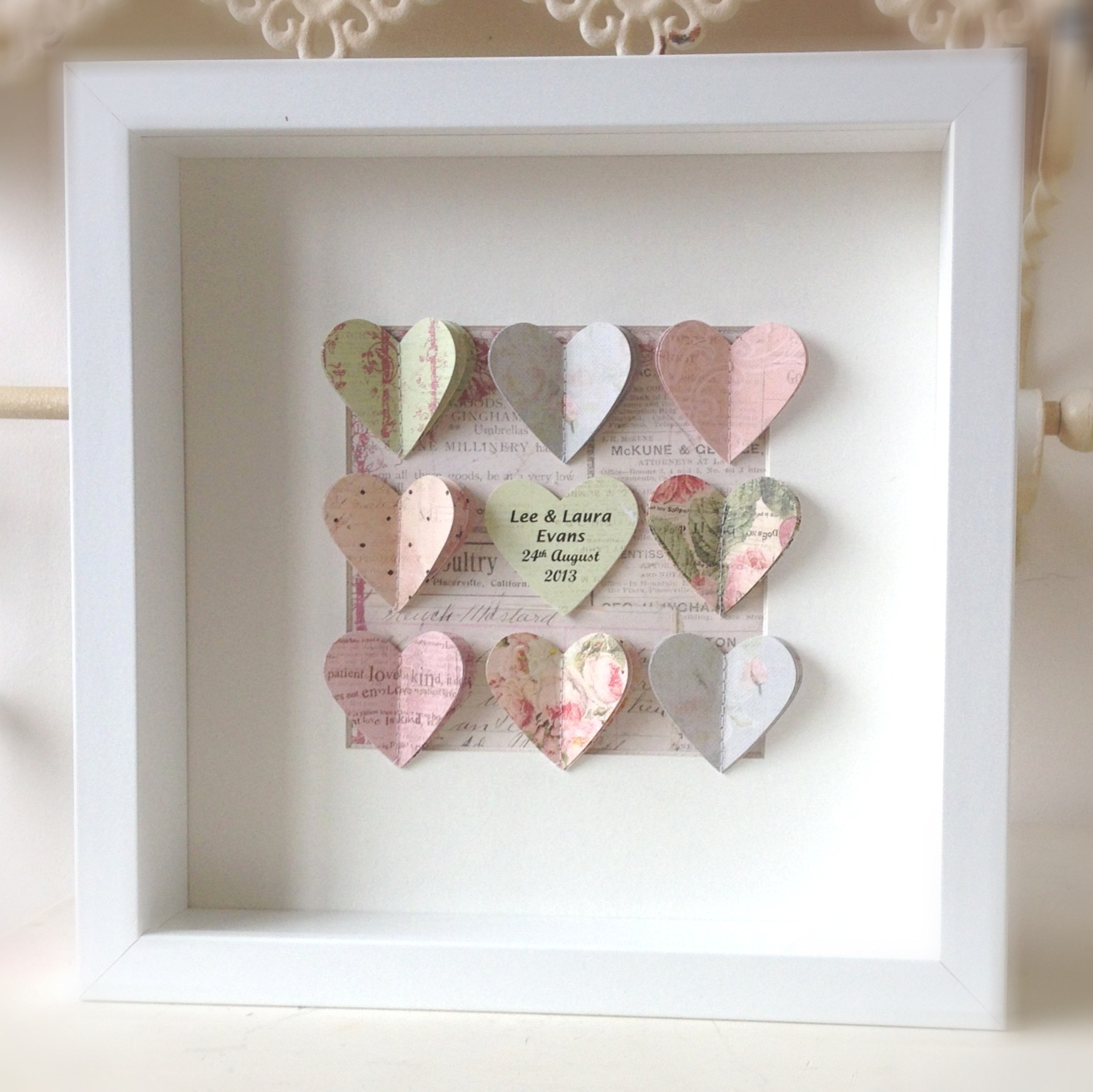 Wedding Gift Shadow Box : ... Imagination: A Wedding Gift.....Personalised Heart Shadow Box