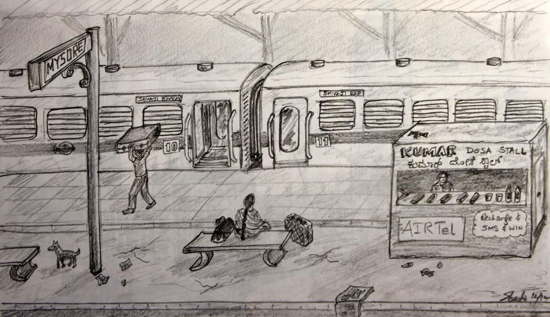 chitrakale mysore railway station
