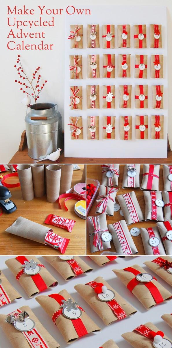 Advent Calendar Ideas Diy : Maiko nagao diy upcycled toilet paper roll advent calendar