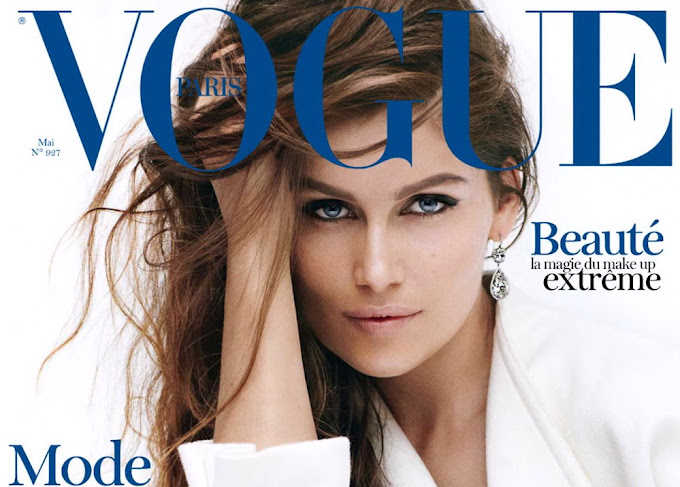 Laetitia Casta cover of Vogue Magazine France May 2012 Issue