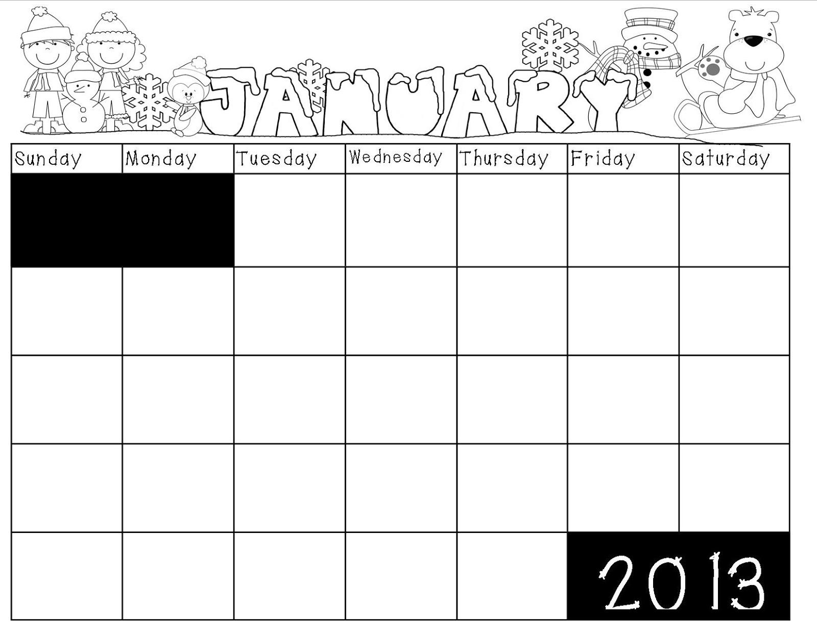 Kindergarten January Calendar : Mrs bohaty s kindergarten kingdom new year calendar
