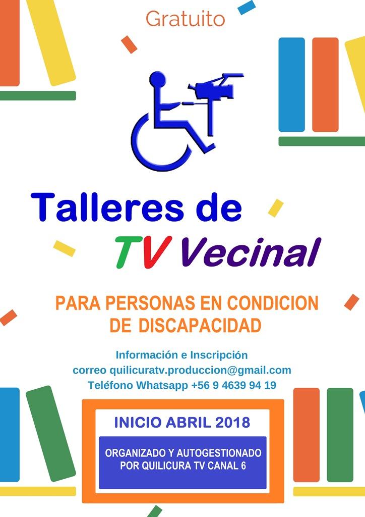 TALLERES  DE TV - 2018 -  PARA PERSONAS CON DISCAPACIDAD - Gratuitos