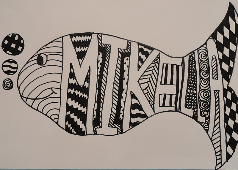 Line Art Year 5 : Sinking springs art line shape pattern value name project
