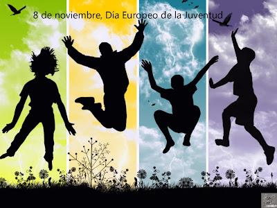 jovenes saltando alegremente