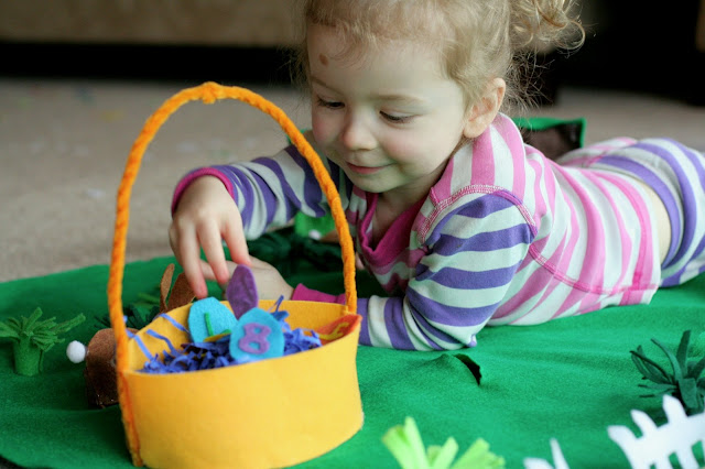 Easter Bunny No-Sew Felt Playmat from Fun at Home with Kids