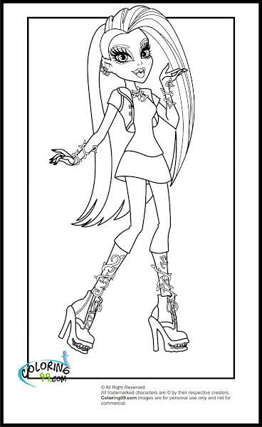 monster high coloring pages - Coloring Pages Monster High Venus
