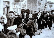 גירוש יהודי סלוניקי למחנות ההשמדה אושויץ - בירקנאו , (סלוניקי , 1943)