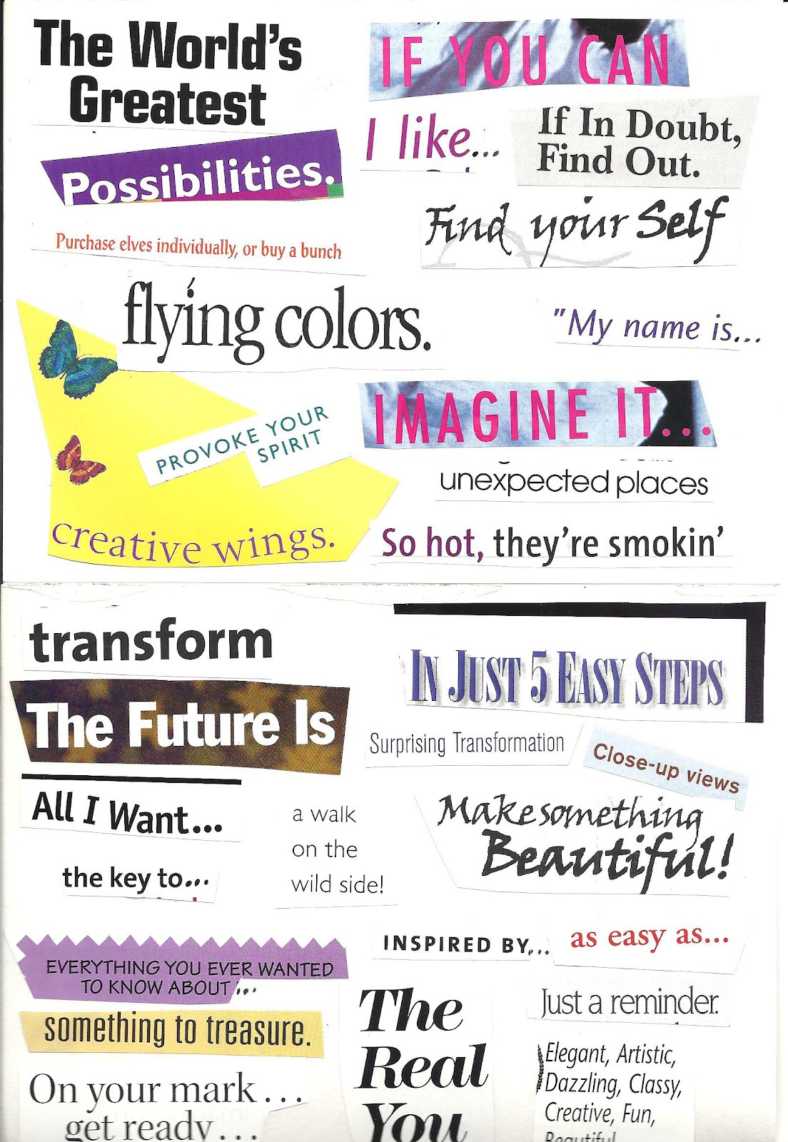 Amys art journal creative words schaefer pen for a creative exercise i cut out a bunch of magazine words and phrases and glued them on two sheets of drawing paper they are for inspiration publicscrutiny Choice Image