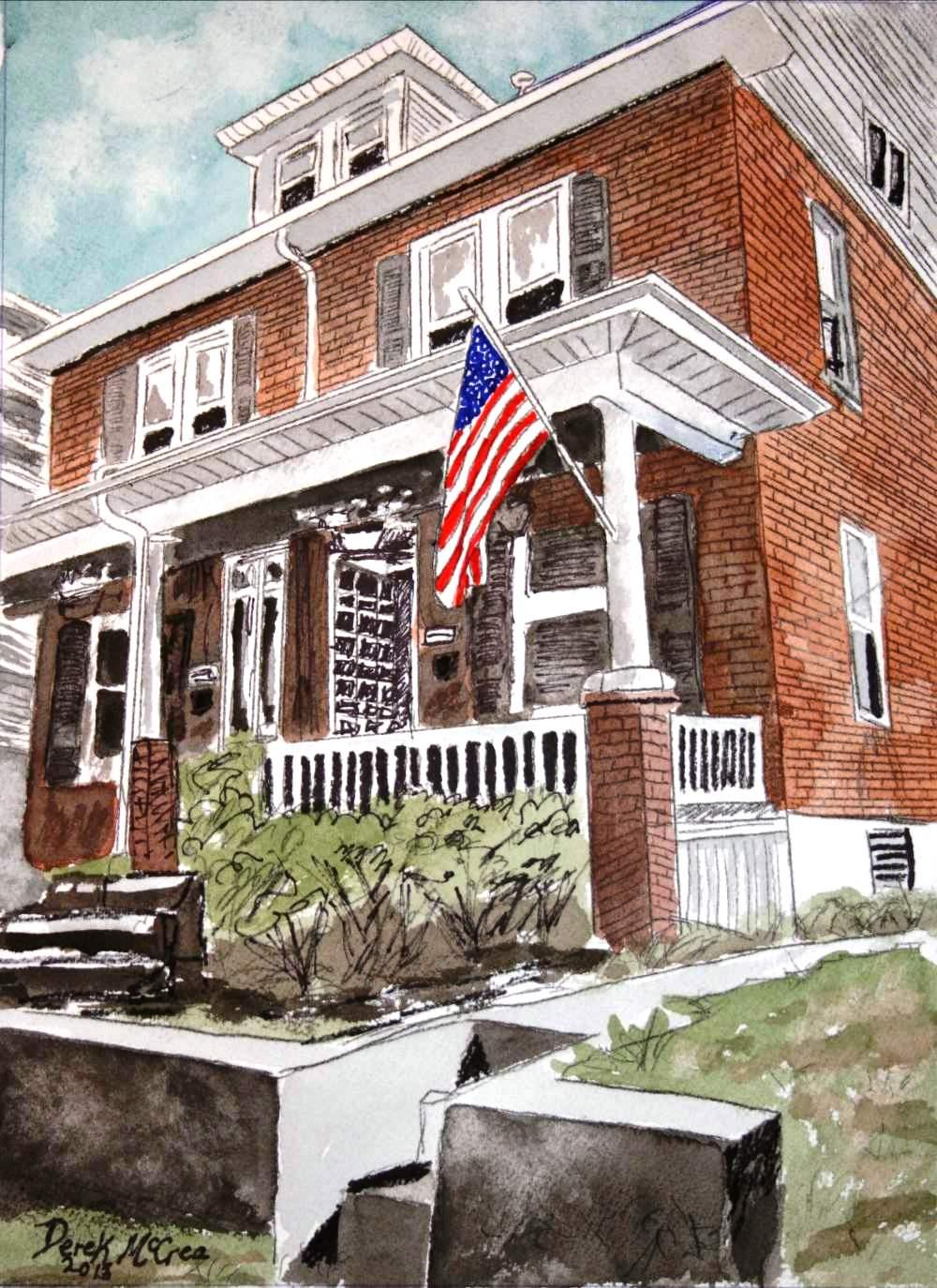 Watercolor Paintings Of Houses