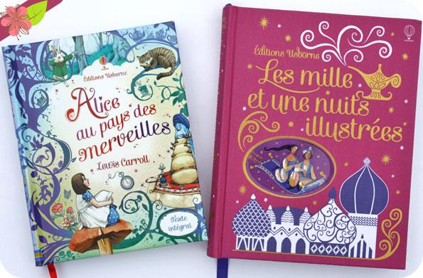 Les mille et une nuits illustrées (édition toilée) & Alice au pays des merveilles - Usborne