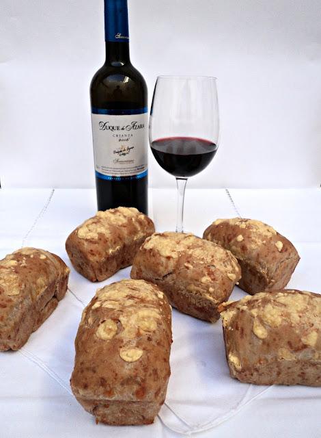 receta casera pan queso vino tinto cena picoteo