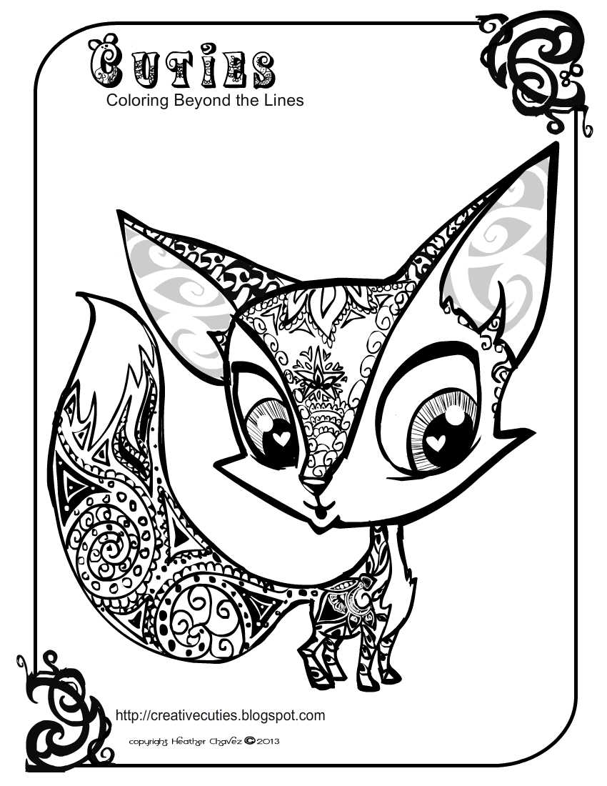 Creative Cuties Foxy Fox coloring page