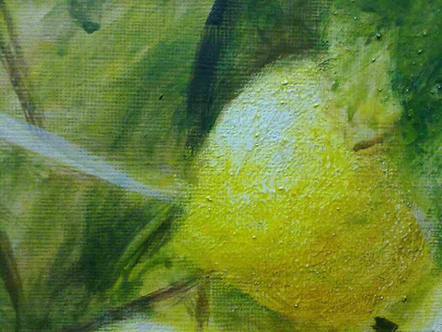 detalle del limon con temple