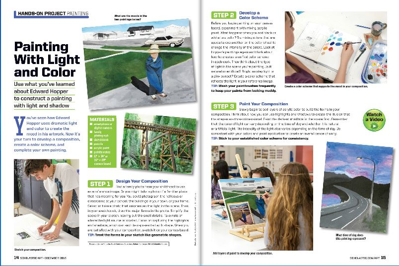 Edward Hopper: Painting with Light and Colour  - Scholastic Art Publication