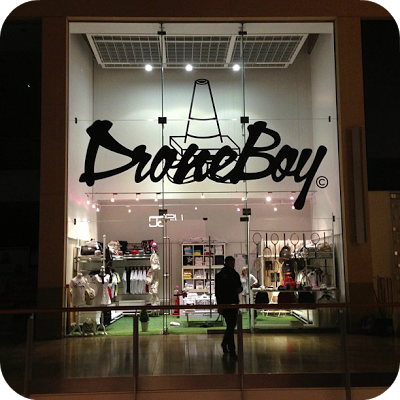 Droneboy pop up shopfront