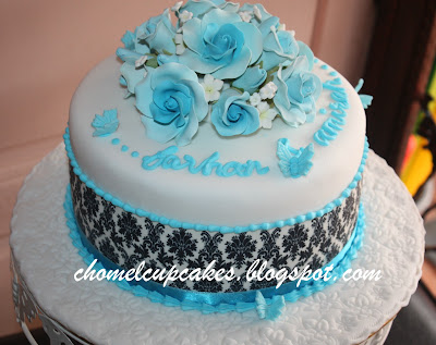 Damask Wedding Cake Syahnaz